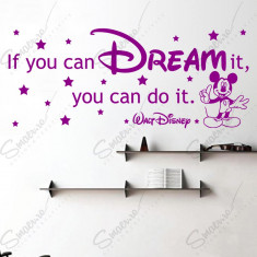 Sticker - Mickey - If you can Dream it...* Text Motivational *