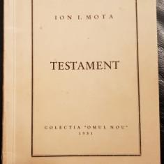 ION I MOTA TESTAMENT COLECTIA OMUL NOU 1951 MADRID MISCAREA LEGIONARĂ LEGIONARI
