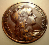 2.932 FRANTA 10 CENTIMES 1910, Europa, Bronz