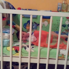 Pătuț, premergător și balansoar - Set mobila copii