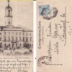 Cernauti ( Bucovina )- clasica, rara-edit. Leon Konig - Carte Postala Bucovina pana la 1904, Circulata, Printata
