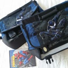 Ghiozdane Spider-man pentru gemeni, Albastru