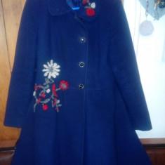 Palton - Palton dama, Marime: 44, Culoare: Albastru