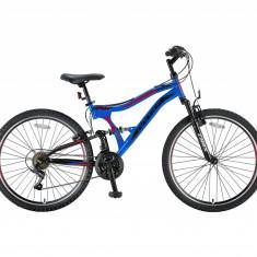 Bicicleta MTB Full Suspensie UMIT Albatros V, culoare Albastru/Negru, roata 26, otelPB Cod:2657000002 - Mountain Bike