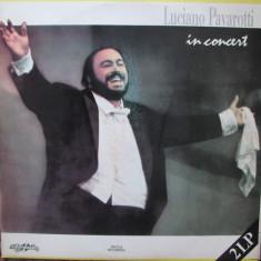 Luciano Pavarotti - In concert ( 2 LP - Romania - VG) - Muzica Opera, VINIL