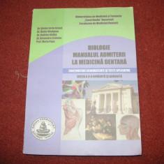 Biologie - Manualul admiterii la medicina dentara - editia a-II a - Teste admitere facultate