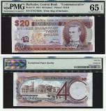 Barbados 20 de dolari 2012 bancnota UNC EPQ 65 PMG