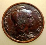 2.889 FRANTA 1 CENTIME 1920, Europa, Bronz