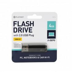 Memorie USB Platinet 4GB V-DEPO USB 2.0 Black - Stick USB