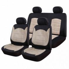 Huse Scaune Auto Dacia Logan Luxury Sueden 9 Bucati - Husa scaun auto RoGroup