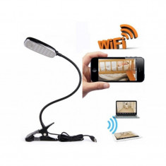 Camera Wi-Fi ascunsa in Lampa de birou Full HD + Detectie la miscare si Alarma! - Camera Video