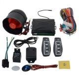 Alarma auto cu sirena si 2 telecomenzi COD 26