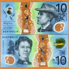 !!! RARR : AUSTRALIA - 10 DOLARI 2017 - P NEW - UNC / POLIMER