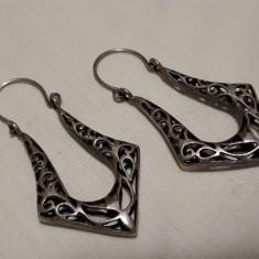 Cercei argint TRIBALI superbi VECHI executati manual prin Traforaj VINTAGE rari