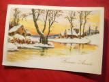 Ilustrata - Felicitare Anul Nou Belgia 1939, Circulata, Printata