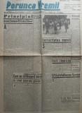 Ziarul nationalist Porunca Vremii , nr. 2553 / 1943 , Regele Mihai la Arad