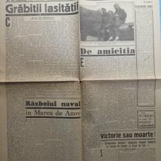 Ziarul de extrema dreapta Porunca Vremii , nr. 2624 / 1943 , Kuban , Azov