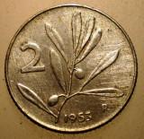 2.959 ITALIA 2 LIRE 1953 ALBINA, Europa, Aluminiu