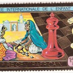 Africa Centrala 1979 - Copii, folio aur, neuzat - Timbre straine