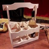 Suport lemn pt 6 sticle de vin
