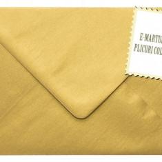 Plicuri colorate invitatii/felicitare. Plicuri aurii 125 x 175mm EM125AUR