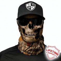 Bandana/Face Shield/Cagula/Esarfa - Forest Camo Skull, made in USA, Marime: Masura unica, Culoare: Din imagine