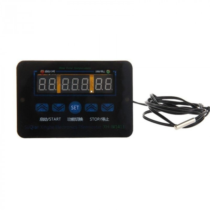 Controler temperatura panou + senzor, 220v/10A nou