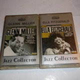 LOT DOUA CASETE AUDIO JAZZ COLLECTOR GLENN MILLER SI ELLA FITZGERALD