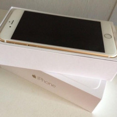 Iphone 6S PLUS GOLD/ Iphone 6S + Auriu / 16GB /Folie sticla/ Neverlocked - Telefon iPhone Apple, Neblocat