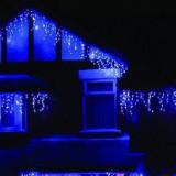 Instalatie de Craciun Franjuri tip Flash 4 m, 132 led, albastru, 9010B - Instalatie electrica Craciun