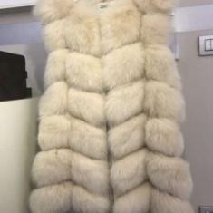 Vesta din blana naturala de vulpe - haina de blana