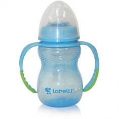 Biberon Anticurgere cu Manere Baby Care 250 ml Blue