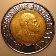 E.051 VATICAN PAPA IOAN PAUL II 500 LIRE 1989 BIMETAL, Europa