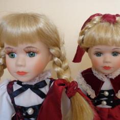 Doua surori gemene, papusi de colectie din portelan, - Papusa de colectie