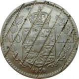 ROMANIA, 100 LEI 1936 DEMONETIZATA * cod 21.11, Nichel