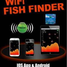 Detector de Peşti cu Sonar WIFI FF-916 Detector de Peşti Android IOS 130 de PAȘI - Sonar Pescuit