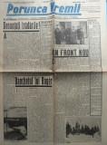 Ziarul nationalist si antisemit Porunca Vremii , nr. 2186 / 1942 , Antonescu