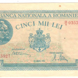SV * Romania  5000   5.000  LEI  1945  , 20 martie     AUNC