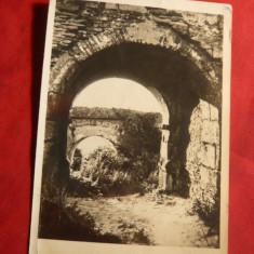 Ilustrata Deva -Intrarea in Cetate, circulat 1956 - Carte Postala Transilvania dupa 1918, Circulata, Printata