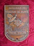 PLACHETA BATALIONUL 20 VANATORI DE MUNTE