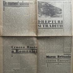 Ziarul de extrema dreapta Porunca Vremii , nr. 2568 / 1943 , Crucea Rosie