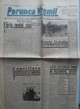 Ziarul nationalist Porunca Vremii , nr. 2546 / 1943 , Antonescu pe Front