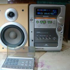 Mini sistem audio AIWA XR-M501EZ /cd-fm rds-2 auxiliar /amplificator audio