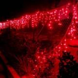Instalatie de Craciun Franjuri tip Flash 4 m, 132 led, rosu, 9010R - Instalatie electrica Craciun