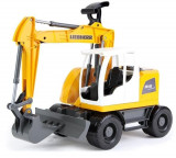 Excavator Plastic Bagr Liebherr A918 Litronic Worxx Cupa Functionala 48 Cm Pentru Copii, Lena