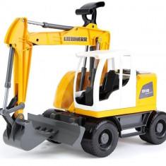 Excavator Plastic Bagr Liebherr A918 Litronic Worxx Cupa Functionala 48 Cm Pentru Copii - Vehicul