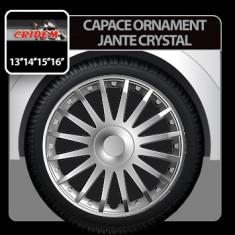 Capace ornament jante Crystal 4buc - Argintiu - 16' Profesional Brand - Capace Roti, R 16