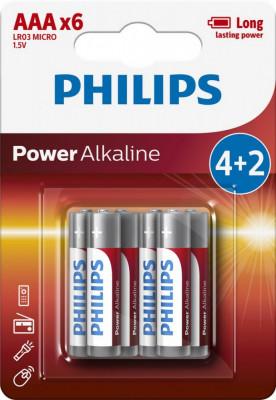 Philips Power Alkaline AAA 4+2-blister PROMO foto