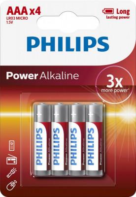 Philips Power Alkaline AAA 4-blister foto