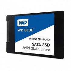 SSD Western Digital WD, 250GB, Blue, SATA 3.0, 3D NAND, 7mm, 2.5